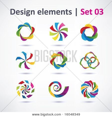 Vector Design elements ( icons )  for print and web