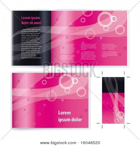 Broschüre (Heft) Abdeckung Vektor