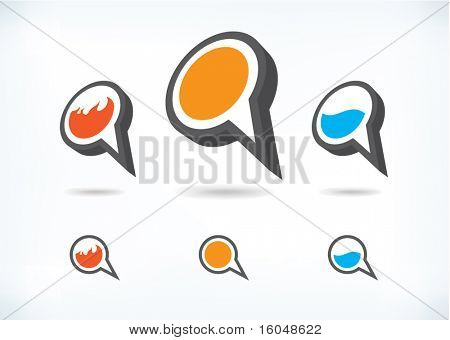 Pictogram dialoogvenster symbolen vector