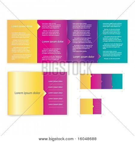 Brochura (livreto) tampa modelo vector para obras de arte do negócio. Incluir a versão de impressão