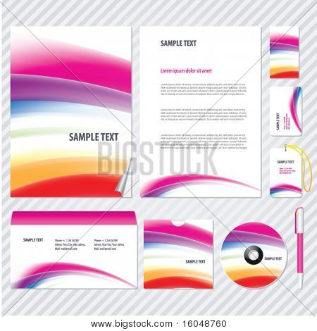 Rainbow Gradient mesh Template for Business artworks. Vector