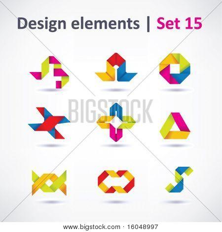 Business Design-Elemente (Symbol) set für Print und Web. Vektor