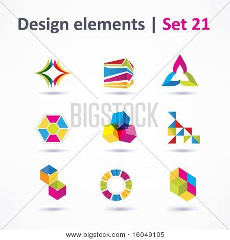 Business-Design-Elemente (Symbol) set für Print und Web. Vektor