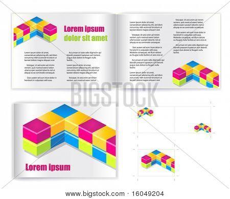 Template vector for print (presentation)