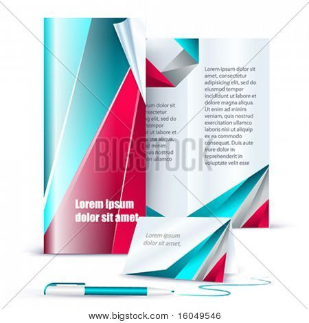 Vector template business set.