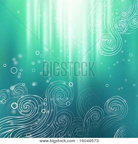 Abstract colorful creative vector background with hand draw elements