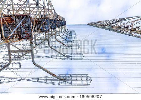 Radar Antenna. Duga In Chernobyl 2, Ukraine..