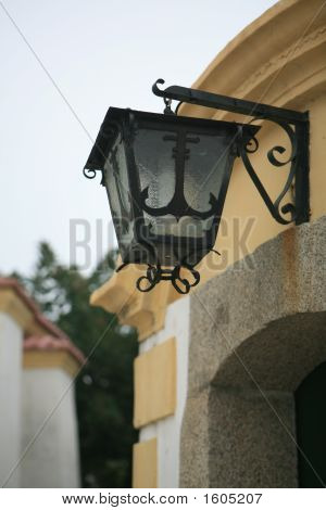 Ornamental Light On The Wall Of A Castle