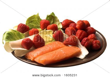 Salmon  With Strawberries