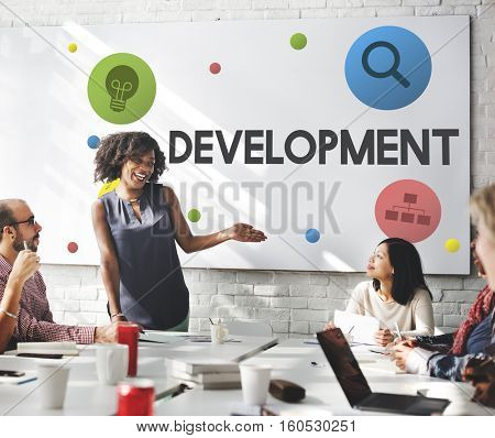 Development Creative Process Marketing Strategy Concept