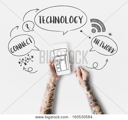 Internet Technology Social Media Concept