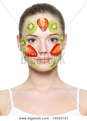 Fruit Facial Mask Of Strawberry And Kiwi