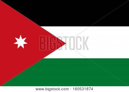 Jordan flag Jordan national flag illustration symbol.