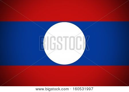 Laos flag ,3D Laos national flag illustration symbol.