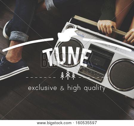 Tune Vintage Vector Graphic Concept