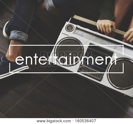 Entertainment Vintage Vector Graphic Concept