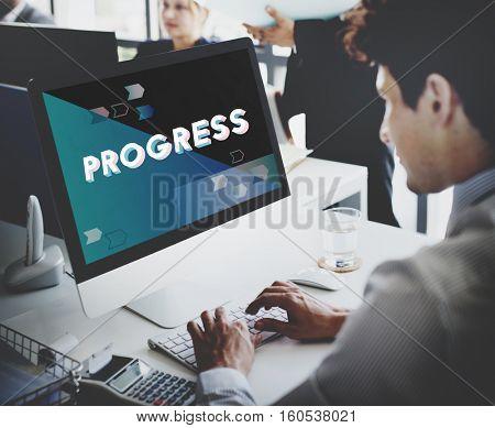 Strategy Progress Efficiency Teamwork Concept