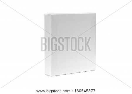 White Box Or White Paper Package Box Isolated On White Background