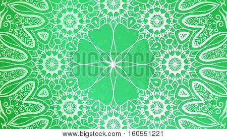 Abstract background, Round ornament texture green color