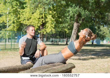 Core Workout With Personal Trainer