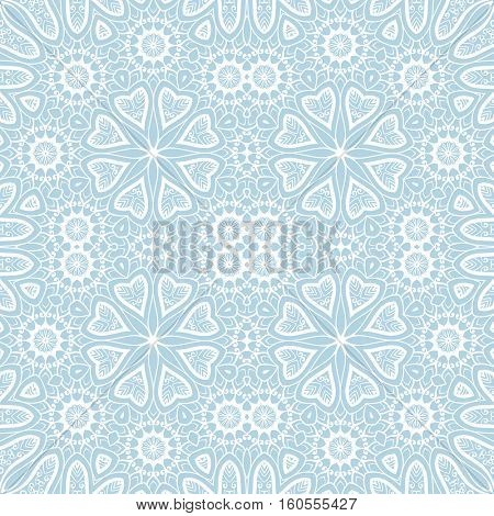 Abstract background, Square ornament texture with flowers
