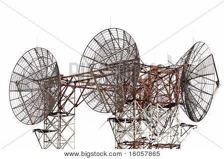 parabol telescope over white