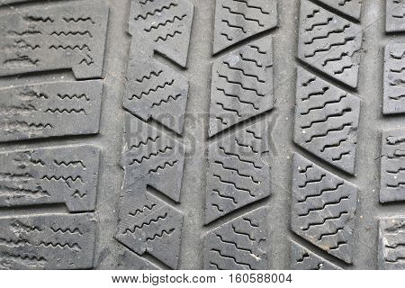 Background with the image of tire protector