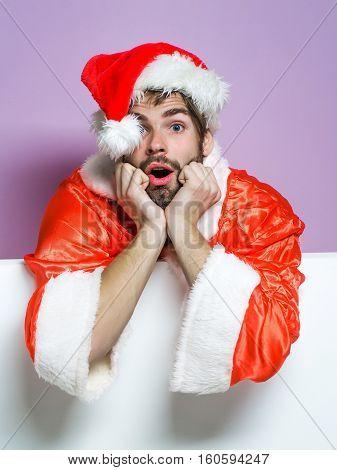 Handsome Sad Santa Man