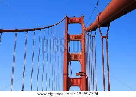Golden Gate bridge in San Francisco - pillar