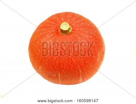 Hokkaido pumpkin fruit isolated on white background