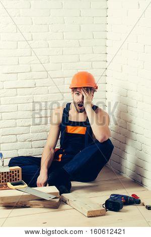 Sexy Muscular Man Builder