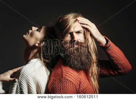 Young Couple With Messy Hair