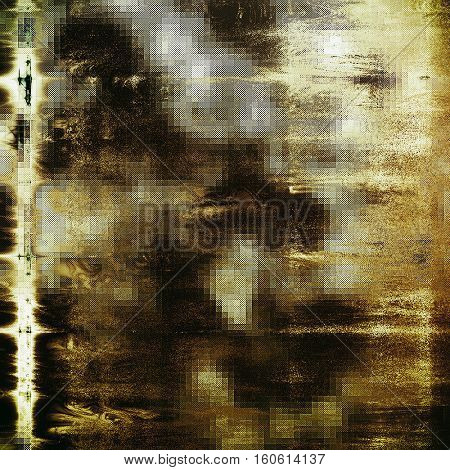 Abstract grunge background or damaged vintage texture. With different color patterns: yellow (beige); brown; gray; black; white