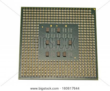 the Modern CPU isolated on a white