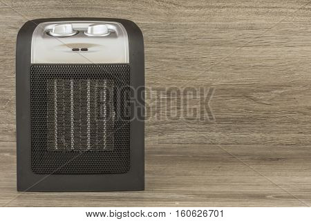 Modern Electric ceramic heater on gray background