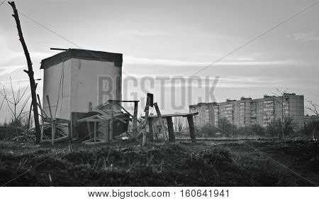 The temporality of human constructions.Industrial city of Ukraine