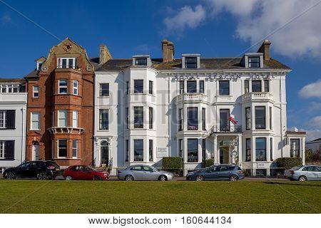 EXMOUTH UK 21 October 2016: Royal Beacon Hotel on Beacon Street. Exmouth. Devon. England