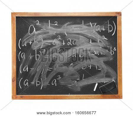 Empty school blackboard background