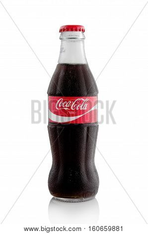Editorial Photo Of Coca-cola Bottle Isolated On White