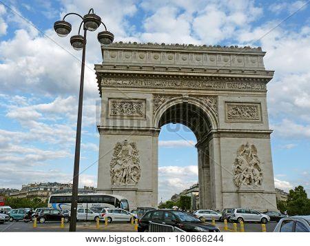 PARIS, FRANCE - JULY, 23 2011 :Arch of Triumph, Paris on 23 july 2011