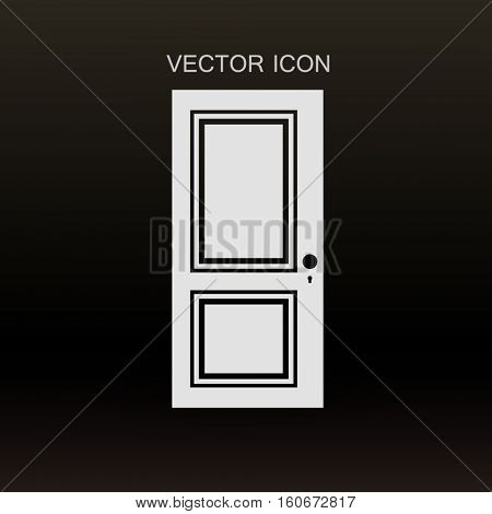 closed door vector illustration