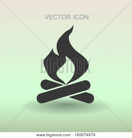 Fire icon vector illustration