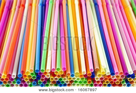 stacked straws