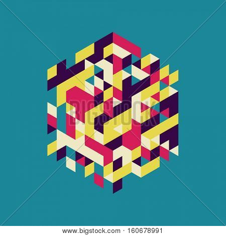 Abstract Vector Illustration. Can Be Used For Design And Presentation.