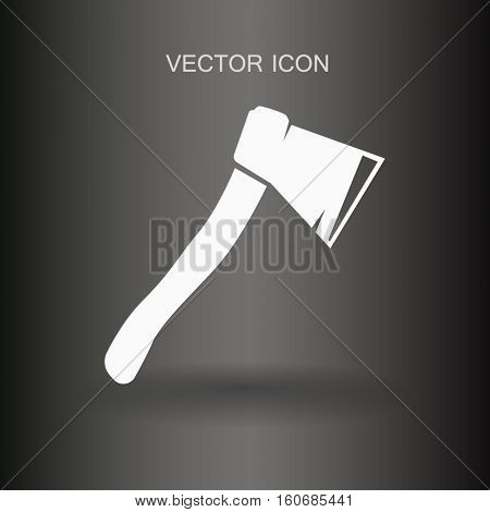 The ax stuck in a tree stump vector illustration
