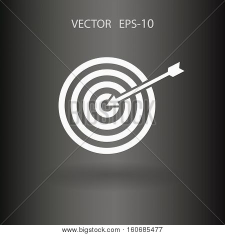 Flat icon of aim vector illustration