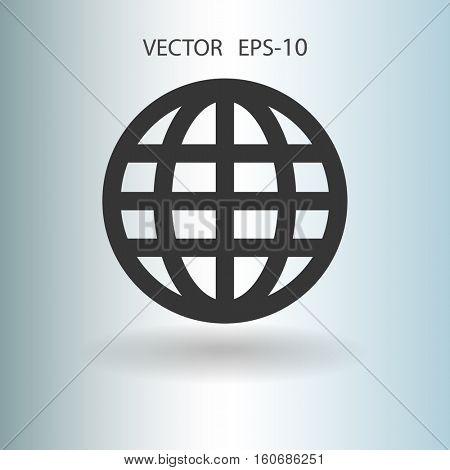 Flat icon of globe. vector illustration