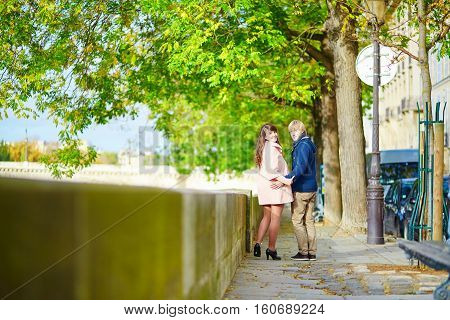 Dating Couple In Paris On A Spring Day
