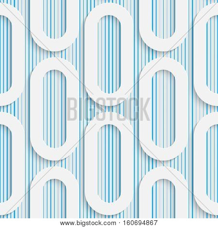 Seamless Minimalistic Pattern. Abstract Fine Background. Futuristic Three-dimensional Wallpaper. Elegant Decorative Design