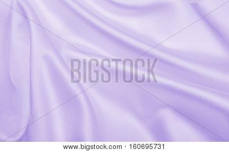 Smooth Elegant Lilac Silk Or Satin Texture As Wedding Background. Luxurious Valentine Day Background